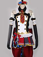 baratos -Inspirado por Amar viver Fantasias Anime Fantasias de Cosplay Ternos de Cosplay Retalhos / Cores Variadas Vestido / Arco / Mais Acessórios Para Homens / Mulheres