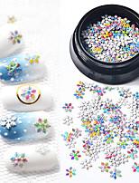 Недорогие -1 pcs Стразы для ногтей Тонкий дизайн Снежинка маникюр Маникюр педикюр Рождество / фестиваль Цветной