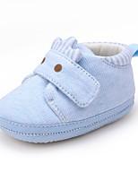 Недорогие -Мальчики / Девочки Обувь Хлопок Зима Удобная обувь / Обувь для малышей На плокой подошве для Ребёнок до года Розовый / Светло-синий / Миндальный