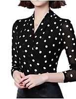baratos -Mulheres Blusa Moda de Rua Poá