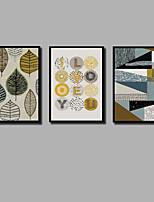 Недорогие -С картинкой Отпечатки на холсте - Рождество Модерн Современный Modern