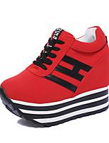 Недорогие -Жен. Хлопок Зима На каждый день Обувь на каблуках На низком каблуке Белый / Черный / Красный
