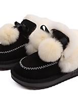 Недорогие -Девочки Обувь Искусственный мех Зима Удобная обувь / Зимние сапоги Ботинки для Дети / Для подростков Черный / Миндальный