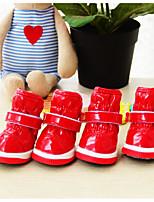 baratos -Cachorro Protetor de Sapatos Estiloso / De Couro Sólido Vermelho / Azul Para animais de estimação