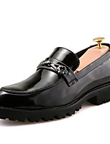 Недорогие -Муж. Комфортная обувь Полиуретан Наступила зима На каждый день Мокасины и Свитер Доказательство износа Черный / Красный / Синий