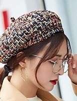 Недорогие -Жен. Активный / Классический Вязаная шапочка / Берет / Кепка-восьмиклинка В клетку