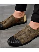 Недорогие -Муж. Комфортная обувь Микроволокно Весна & осень Мокасины и Свитер Черный / Темно-коричневый / Хаки