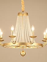 Недорогие -JLYLITE 8-Light Свеча-стиль Люстры и лампы Рассеянное освещение Электропокрытие Металл Свеча Стиль 110-120Вольт / 220-240Вольт