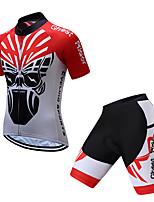 Недорогие -TELEYI С короткими рукавами Велокофты и велошорты - Красный / Белый Велоспорт Быстровысыхающий азиатский / Эластичная