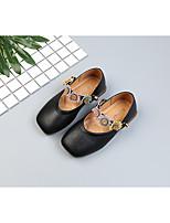 Недорогие -Девочки Обувь Микроволокно Осень Удобная обувь На плокой подошве Шнуровка для Дети Черный / Бежевый / Миндальный / Контрастных цветов
