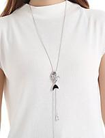 Недорогие -Жен. металлический / Мода Свитер ожерелье Однотонный
