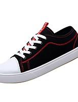 Недорогие -Муж. Комфортная обувь Полиуретан Весна Кеды Черно-белый / Черный / Красный