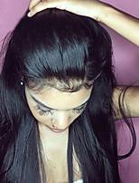 Недорогие -парики фронта шнурка прямые бразильские реми волосы парики человеческих волос свободная часть предварительно сорвал с волосами ребенка для женщин