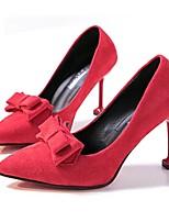 abordables -Femme Polyuréthane Automne Chaussures à Talons Talon Aiguille Bout pointu Noir / Rouge / Rose