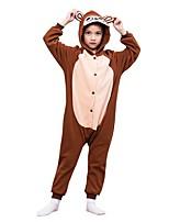 abordables -Pyjamas Kigurumi Singe Combinaison de Pyjamas Polaire Café Cosplay Pour Garçons et filles Pyjamas Animale Dessin animé Fête / Célébration Les costumes