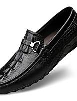 Недорогие -Муж. Кожаные ботинки Наппа Leather Весна & осень На каждый день / Английский Мокасины и Свитер Массаж Черный / Коричневый