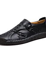 Недорогие -Муж. Комфортная обувь Кожа Весна Классика / Английский Мокасины и Свитер Дышащий Черный / Коричневый / Хаки