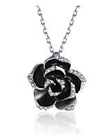 Недорогие -женская мода / простой сплав кристалл ожерелье