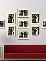 Недорогие -Современный современный Дерево Окрашенные отделки Рамки для картин, 9pcs