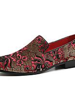 Недорогие -Муж. Официальная обувь Синтетика Весна & осень На каждый день / Английский Мокасины и Свитер Нескользкий Золотой / Черный / Винный / Для вечеринки / ужина