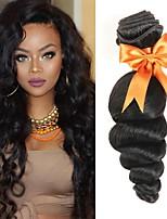 Недорогие -6 Связок Индийские волосы Монгольские волосы Свободные волны Натуральные волосы Необработанные натуральные волосы Подарки Косплей Костюмы Головные уборы 8-28 дюймовый Естественный цвет