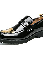 cheap -Men's Formal Shoes Synthetics Spring & Summer / Fall & Winter Casual / British Loafers & Slip-Ons Non-slipping Black / Gold