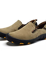 Недорогие -Муж. Комфортная обувь Свиная кожа Весна На каждый день Мокасины и Свитер Доказательство износа Серый / Темно-коричневый / Хаки