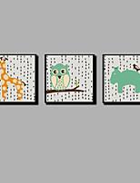 Недорогие -С картинкой Отпечатки на холсте - Рождество / Модерн Современный / Modern
