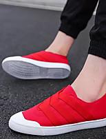 Недорогие -Муж. Комфортная обувь Полотно Осень Мокасины и Свитер Черный / Военно-зеленный / Красный