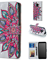 cheap -Case For Samsung Galaxy A6 (2018) / A6+ (2018) / Galaxy A7(2018) Wallet / Card Holder / with Stand Full Body Cases Mandala Hard PU Leather