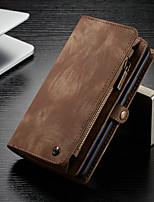 baratos -CaseMe Capinha Para Huawei Huawei Mate 20 Pro Carteira / Porta-Cartão / Com Suporte Capa Proteção Completa Sólido Rígida PU Leather para Huawei Mate 20 pro