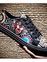 Недорогие -Муж. Комфортная обувь Свиная кожа Лето Кеды Черный
