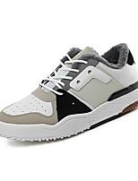 Недорогие -Муж. Комфортная обувь Полиуретан Зима На каждый день Кеды Нескользкий Контрастных цветов Белый / Черный