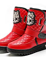 Недорогие -Девочки Обувь Искусственная кожа Зима Удобная обувь / Зимние сапоги Ботинки для Для подростков Черный / Красный / Розовый / Сапоги до середины икры
