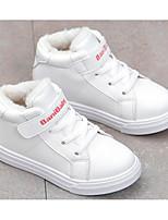 Недорогие -Девочки Обувь Искусственная кожа Наступила зима Удобная обувь / Ботильоны Ботинки для Для подростков Белый / Розовый