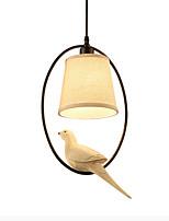 Недорогие -Мини Подвесные лампы Потолочный светильник Окрашенные отделки Металл Ткань Новый дизайн, Милый 110-120Вольт / 220-240Вольт