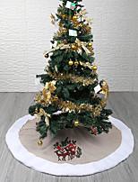 Недорогие -Новогодние ёлки / Рождество / Рождественские украшения Праздник / Новогодняя ёлка текстильный Круглый Для вечеринок Рождественские украшения