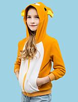 baratos -Inspirado por Fantasias Animal / Urso Teddy Anime Fantasias de Cosplay Hoodies cosplay Desenho Animado Manga Longa Moletom Para Para Meninos / Para Meninas