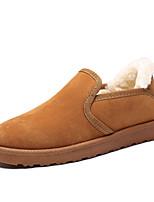 Недорогие -Муж. Комфортная обувь Искусственная кожа Зима На каждый день Мокасины и Свитер Сохраняет тепло Серый / Желтый / Хаки