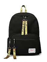Недорогие -Жен. / Девочки Мешки Оксфорд рюкзак Молнии Буквы Белый / Черный / Розовый