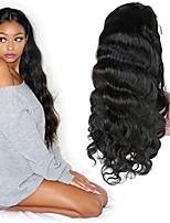 Недорогие -человеческие волосы Remy Полностью ленточные Лента спереди Парик Бразильские волосы Прямой Естественные кудри Парик Ассиметричная стрижка 130% 150% 180% Плотность волос Мягкость Sexy Lady