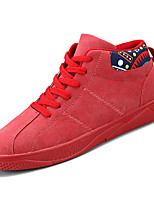 Недорогие -Муж. Комфортная обувь Полиуретан Наступила зима На каждый день Кеды Доказательство износа Черный / Серый / Красный