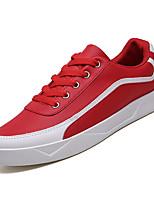 Недорогие -Муж. Комфортная обувь Полиуретан Зима На каждый день Кеды Нескользкий Контрастных цветов Белый / Черный / Красный