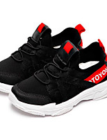 Недорогие -Девочки Обувь Полиуретан Весна & осень Удобная обувь Спортивная обувь Беговая обувь для Для подростков Белый / Черный