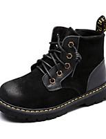 Недорогие -Мальчики / Девочки Обувь Свиная кожа Зима Армейские ботинки Ботинки Шнуровка для Черный / Верблюжий