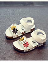 Недорогие -Девочки Обувь Кожа Лето Обувь для малышей / Детская праздничная обувь Сандалии для Дети (1-4 лет) Белый / Розовый