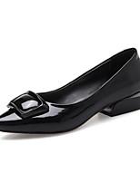 Недорогие -Жен. Наппа Leather Осень / Зима Обувь на каблуках На толстом каблуке Черный / Красный