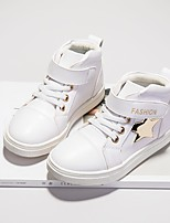 Недорогие -Девочки Обувь Полиуретан Наступила зима Удобная обувь Кеды для Для подростков Белый / Черный / Розовый