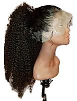 Недорогие -Не подвергавшиеся окрашиванию Полностью ленточные Парик Малазийские волосы Kinky Curly Черный Парик Стрижка каскад 130% Плотность волос / Природные волосы / Парик в афро-американском стиле