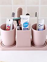 baratos -Caneca de Escova de Dentes Adorável / Criativo Contemporâneo Moderno Plástico 2pcs Escova de Dentes e Acessórios